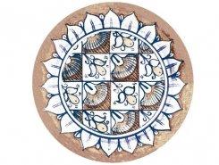 Вставка OLAMBRILLA AZZURRO CIRCLE 10x10