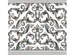 Плитка Пол Кер.гр. DEC.CENEFA MALAQUITA BLANCO Rect.60x60
