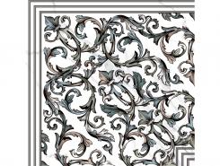 Плитка Пол Кер.гр. DEC.GIRO MALAQUITA BLANCO Rect.60x60