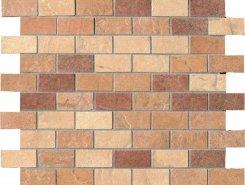 MIX LIGHT MOSAICO MATTONCINO (2.2x4.8) (terra, amber, sand)30.5x30.5