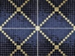 Мозаика P002 BLACK GOLD 15х15мм с рисунком (на сетке) ALIZIA /2,14