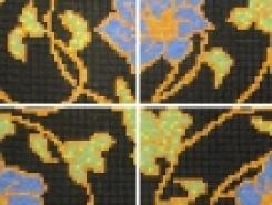 Мозаика P004 FIORE 15х15мм с рисунком (на сетке) ALIZIA /2,17