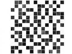 Плитка Crystal чёрный+белый 30х30