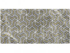 Плитка Декор Crystal Fractal серый 30х60