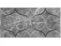 Плитка Декор Crystal Resonanse серый 30х60