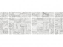 Плитка MM11188 Декор Glossy мозаичный серый 20х60