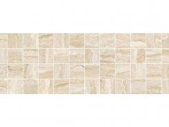 Плитка MM11189 Декор Glossy мозаичный бежевый 20х60