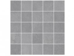 Плитка MM34042 Декор Depo мозаичный серый 25х25