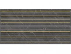 Плитка Декор Olimpus Race чёрный 25х50