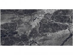 Плитка Kenya Nero Керамогранит черный 60x120 глянцевый