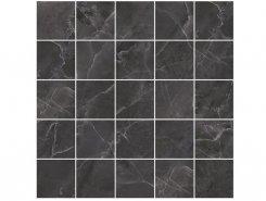 Плитка MM34038 Декор Olimpus мозаичный чёрный 25х25