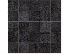 Плитка Мозаика MM34034 Декор Metallica мозаичный чёрный 25х25