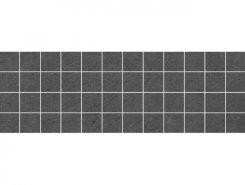Плитка Декор Story мозаичный чёрный 20х60