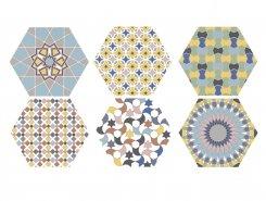 Плитка Hex. Kasbah Mix Colors 25х22