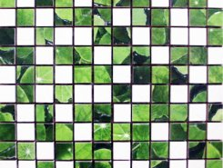 Плитка Lotus Mosaico Blanco-Verde 30x30