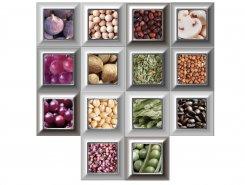 Плитка Decor Mix 14 pz Cube Gold Kitchen 10x10