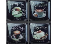 Coffee Decos (set 4 pcs) +15428