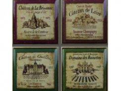 Декор Wine Label Decos (set 4 pcs)