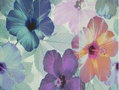 Плитка Панно 7009 Comp.Azul/Gris/Malva Hibiscus Iii 75X75