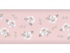 Плитка 15032 N Веджвуд Цветы розовый грань 15*40
