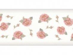 Плитка 15035 N Веджвуд Цветы белый грань 15*40